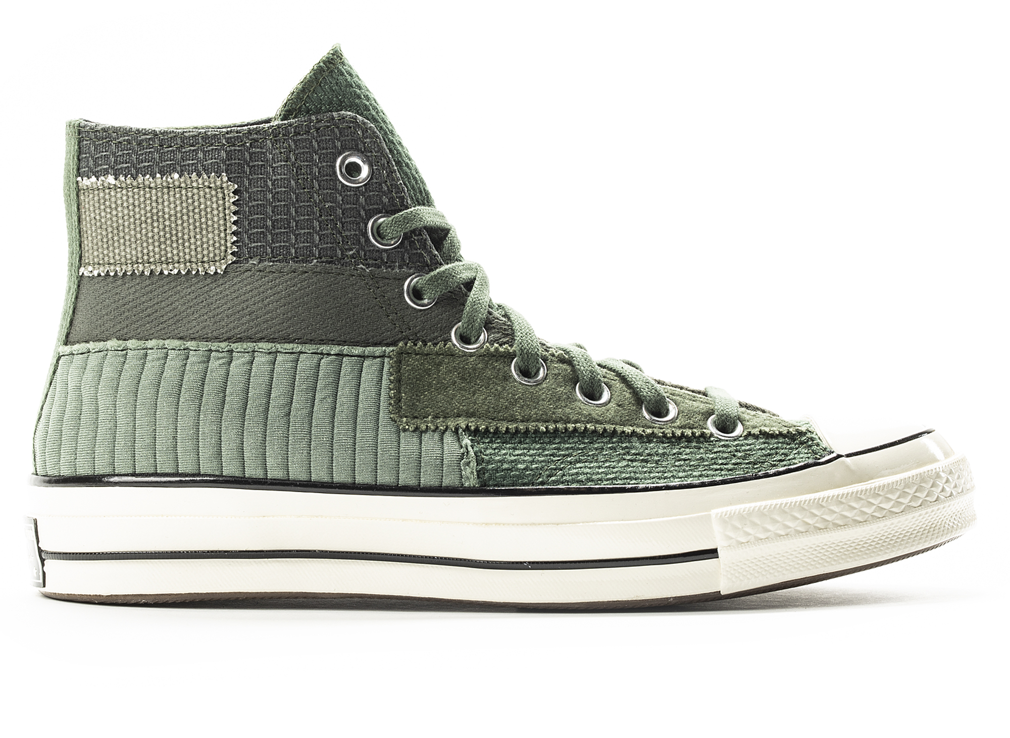 Converse 70 Hi Patchwork in Green
