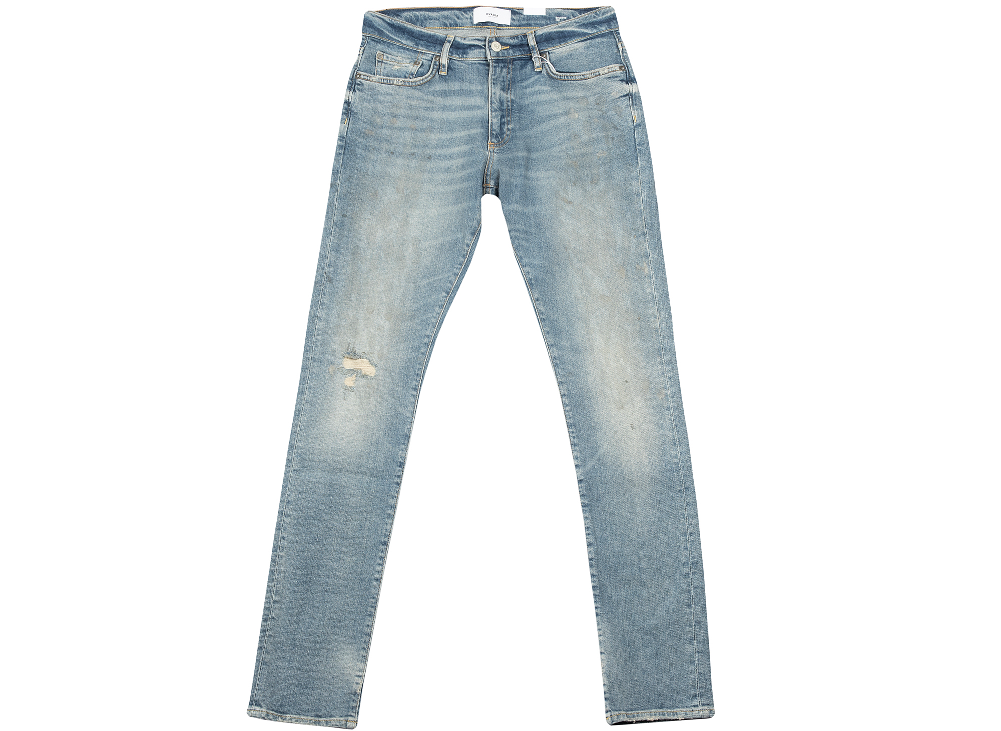 Ovadia and Sons Paint Light Skinny Denim