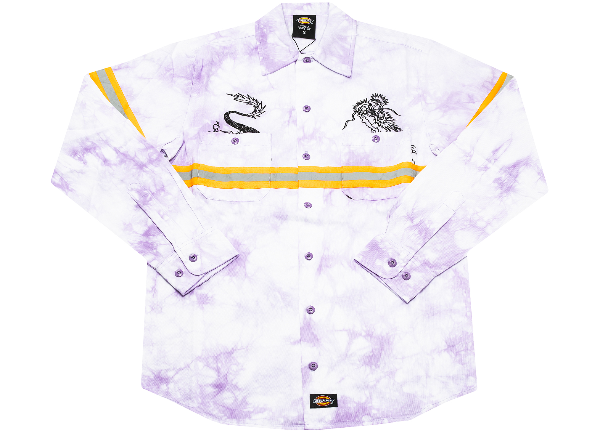 Clot x Dickies Dragon Tie Dye Long Sleeve Work Shirt 'Purple'
