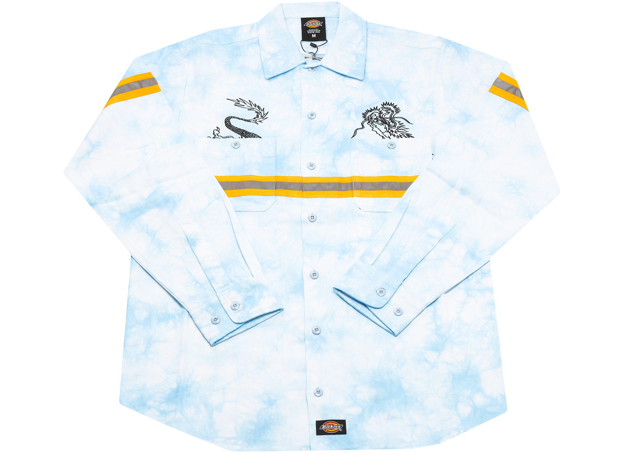 Clot x Dickies Dragon Tie Dye Long Sleeve Work Shirt 'Blue'