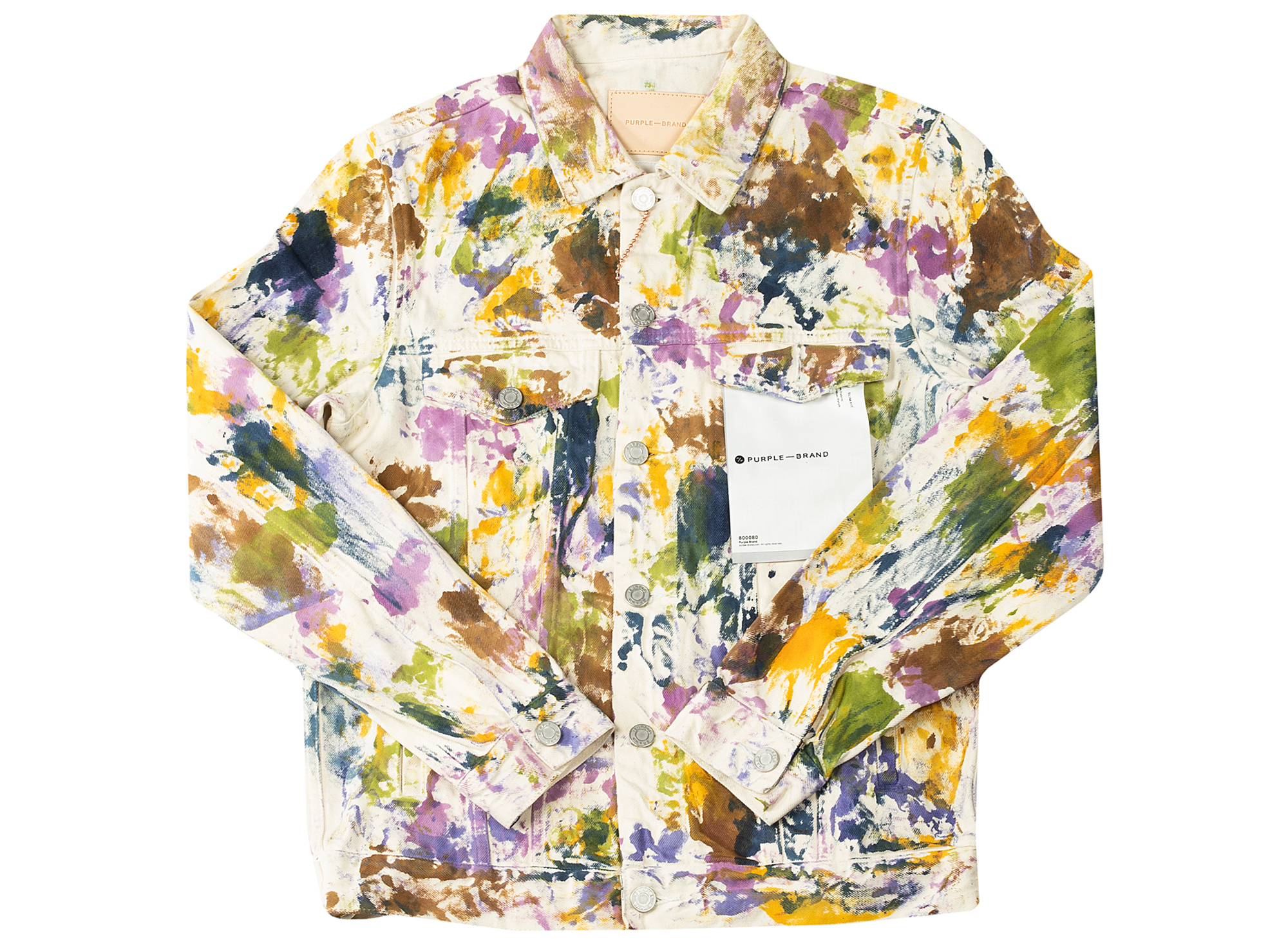 Purple Brand Paint Splatter Classic Fit Jacket xld