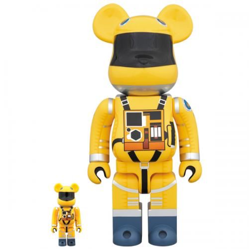 Medicom Toy BearBrick Space Suit Yellow Ver. 100% & 400%