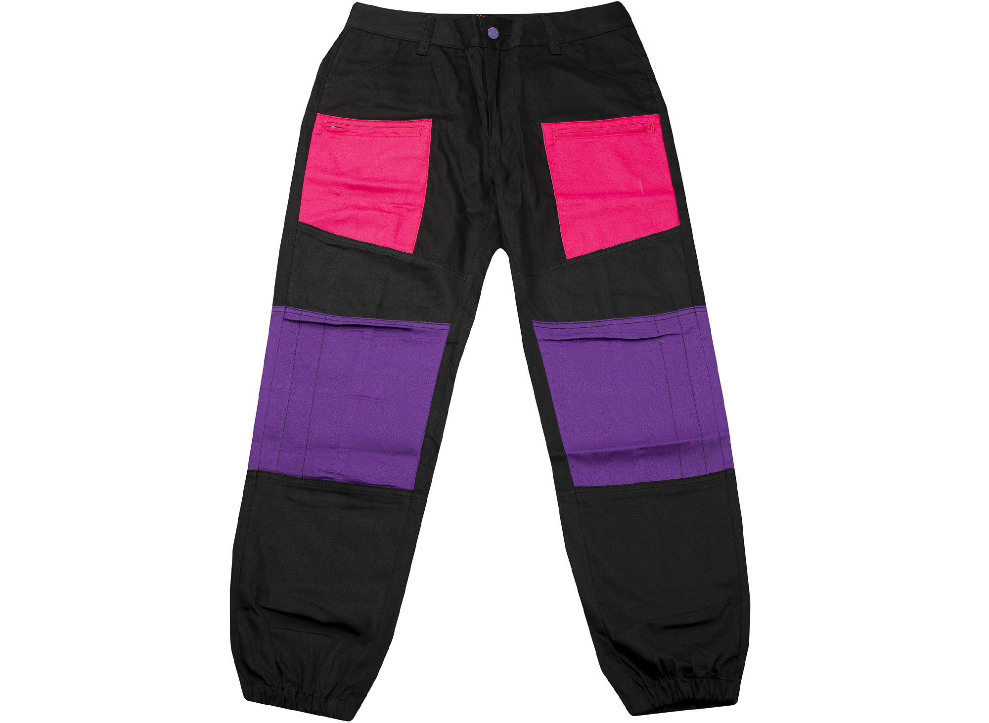 Clot Contrast Patched Panel Pants