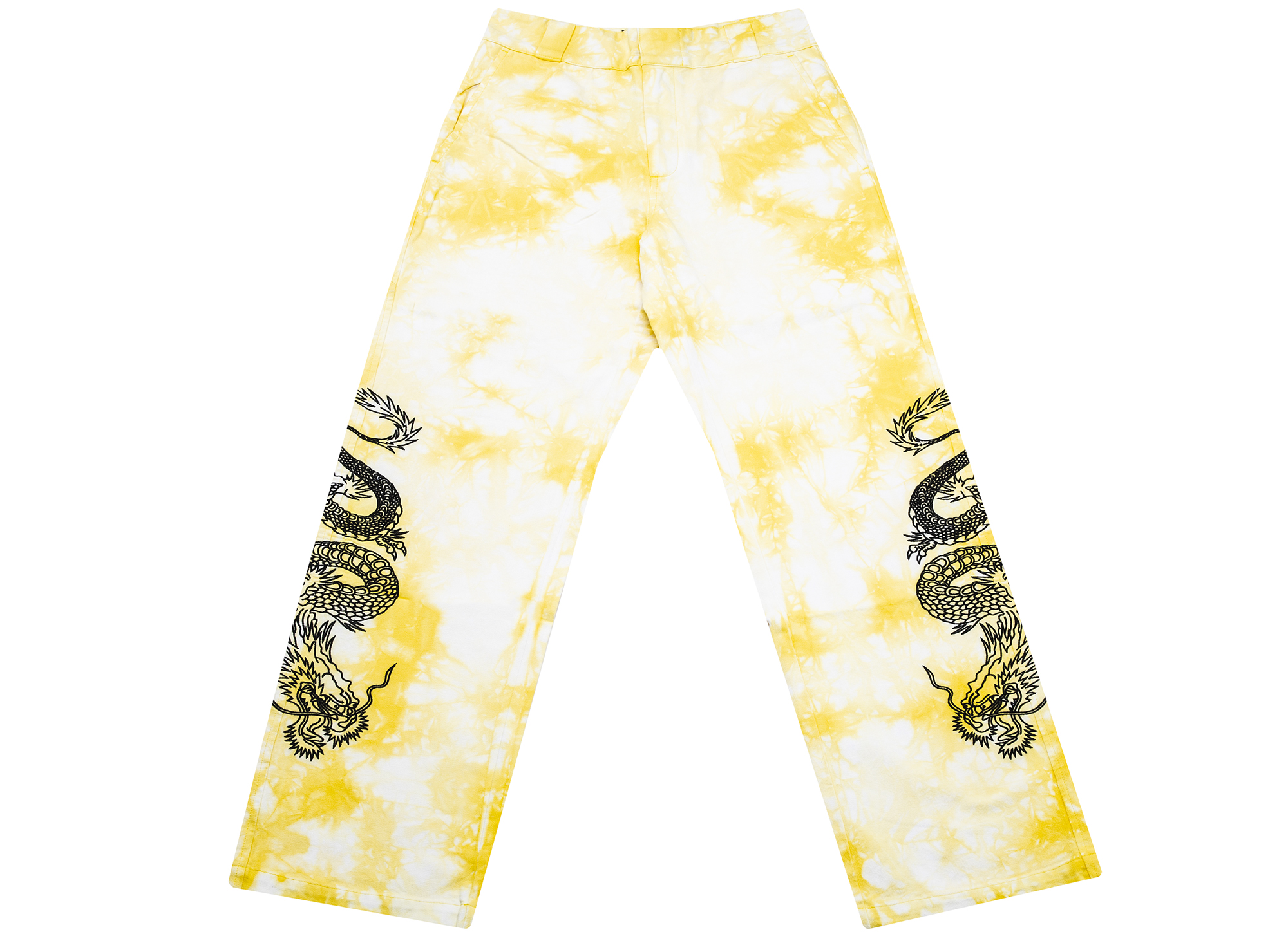 Clot x Dickies Dragon Tie Dye Chino in Yellow