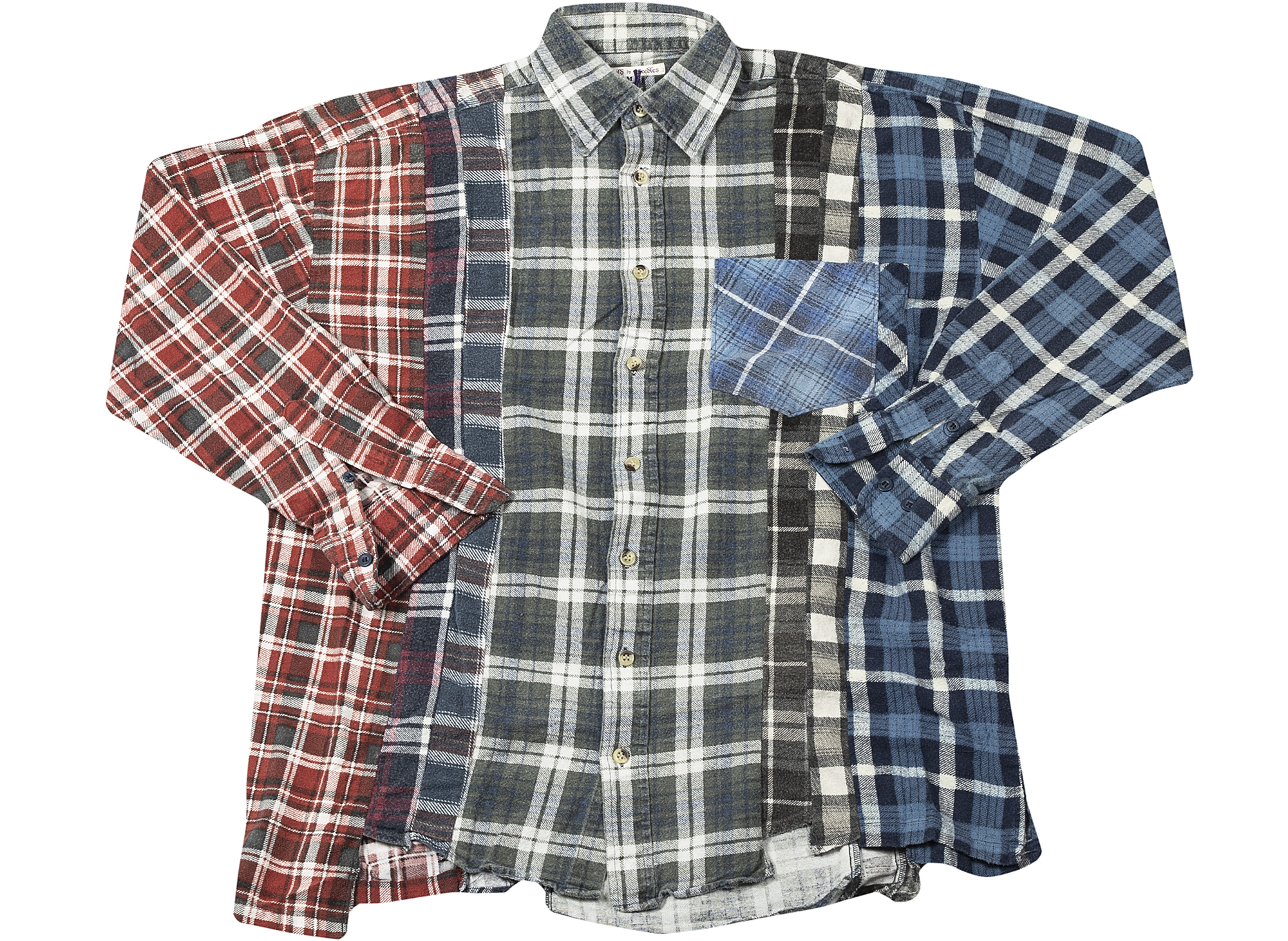 Needles Reconstructed 7 Cuts Flannel Shirt