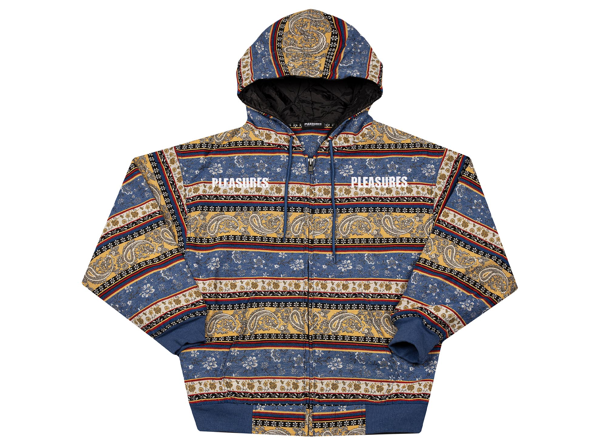 Pleasures Paisley Heavy Hoody 'Blue'