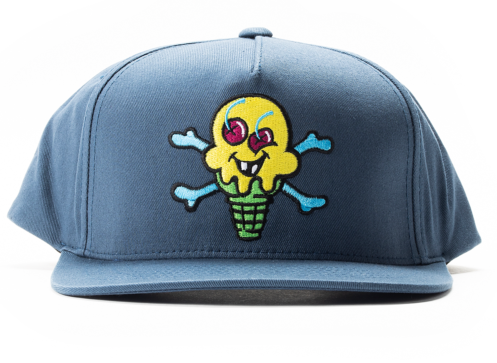 Ice Cream Green Cone Hat in Navy