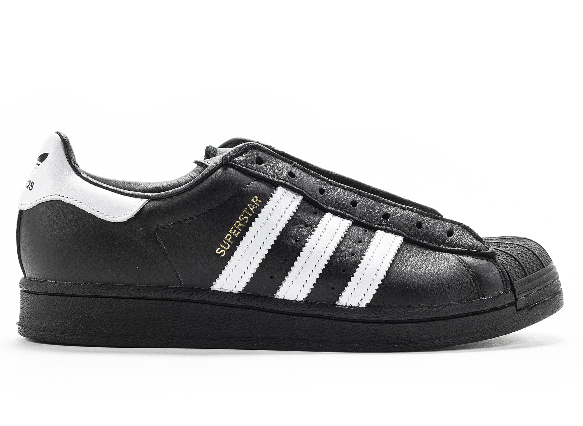 Adidas Superstar Laceless Sneakers in Black