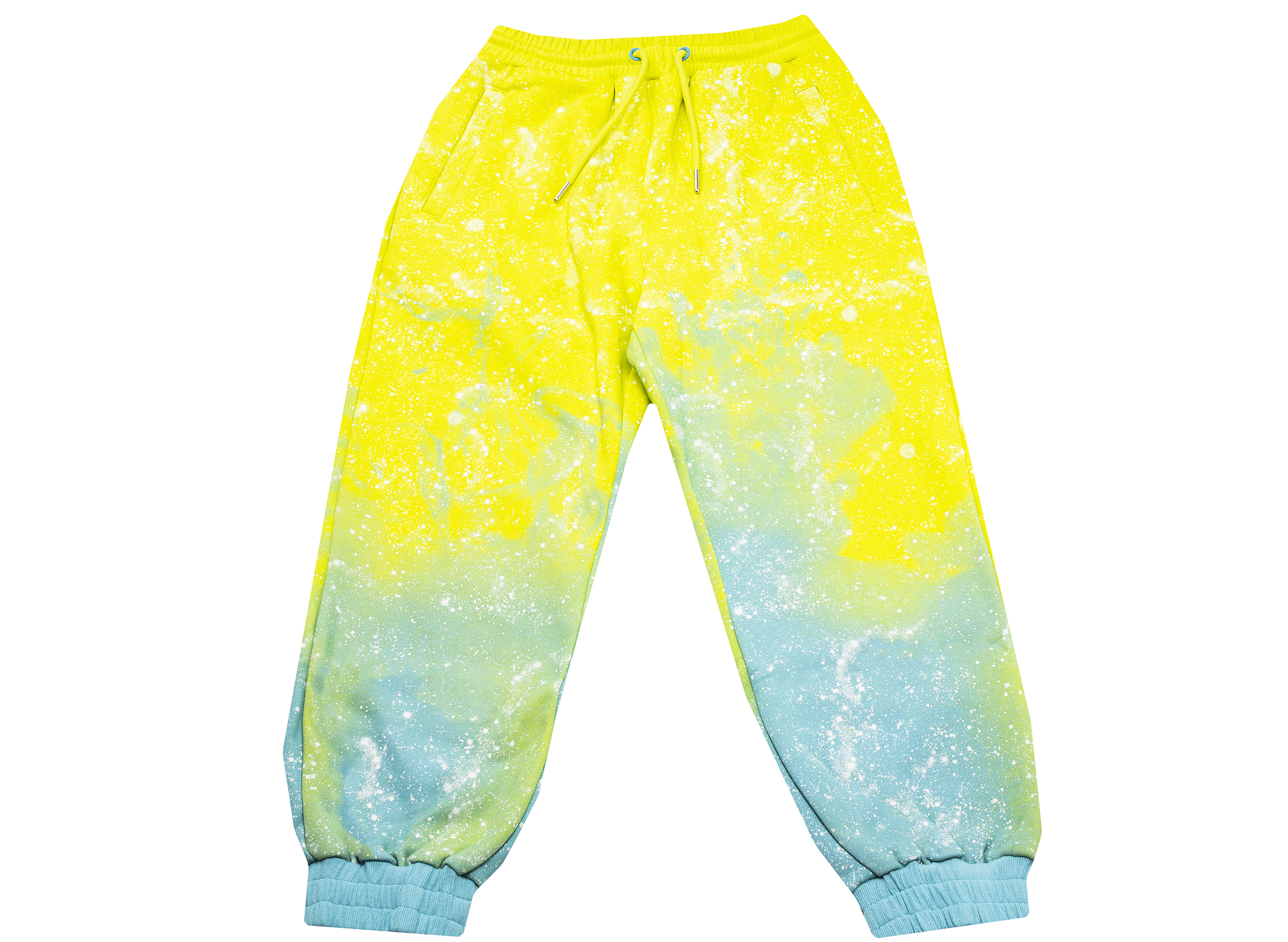 Clot Stars All Over Sweatpants in Yellow