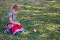 Red Egg Gathering Apron for Kids — Made to Order