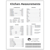 Kitchen Measurements Printable