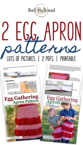 Egg Gathering Apron Pattern — Kids & Adults, PDFs