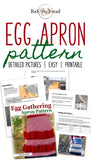 Egg Gathering Apron Pattern, PDF