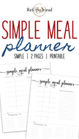 *Simple* Meal Planner Printable