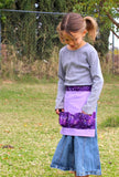 Purple Egg Gathering Apron for Kids — Made to Order