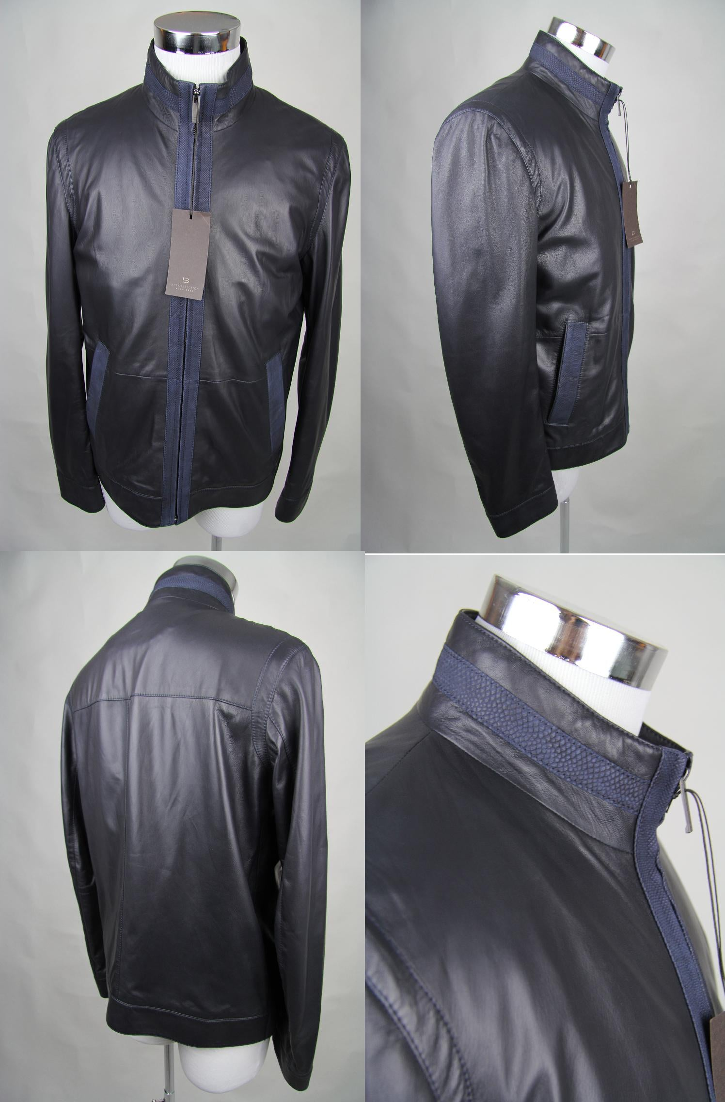 hugo boss selection winter leder jacke ravin gr 50 neu leather jacket. Black Bedroom Furniture Sets. Home Design Ideas