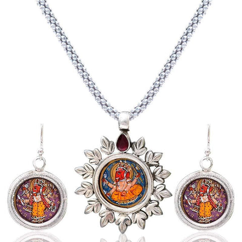 Ganesha Pendant Set Without Chain