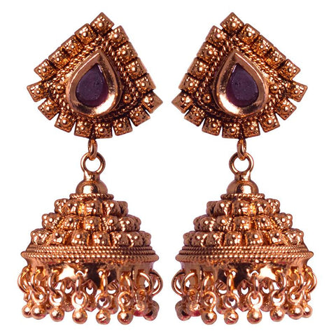 Beautiful Golden Jhumka Earrings