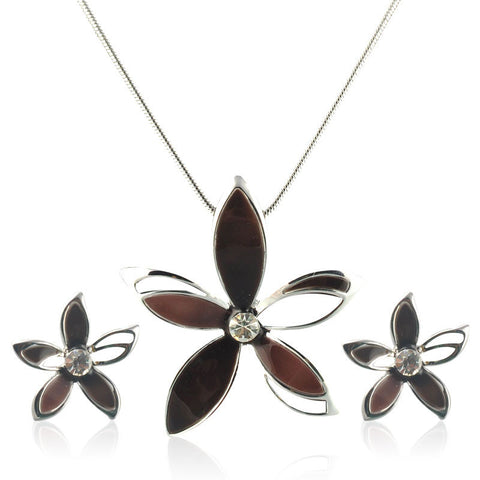 Autumn Flower Necklace Set