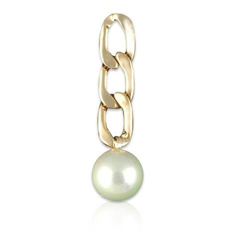 Chained Pearl Earrings