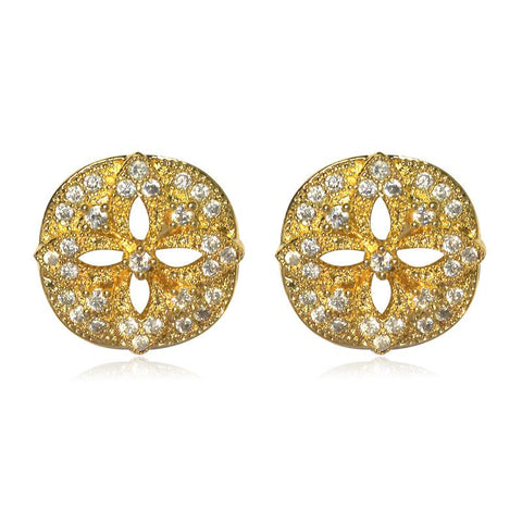 Beautiful Cz Embellished Stud Earrings