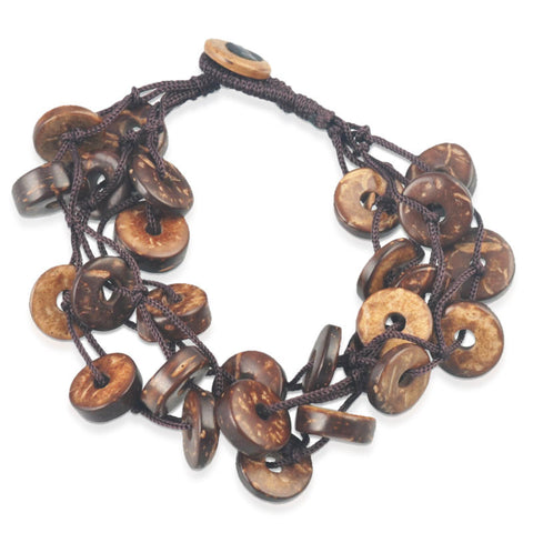 Brown Buttons Bracelet
