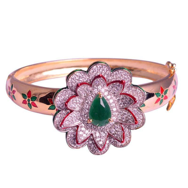 Golden Floral Bangle For Women