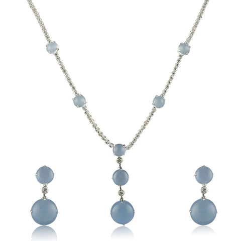 Crystal Blue Necklace Set