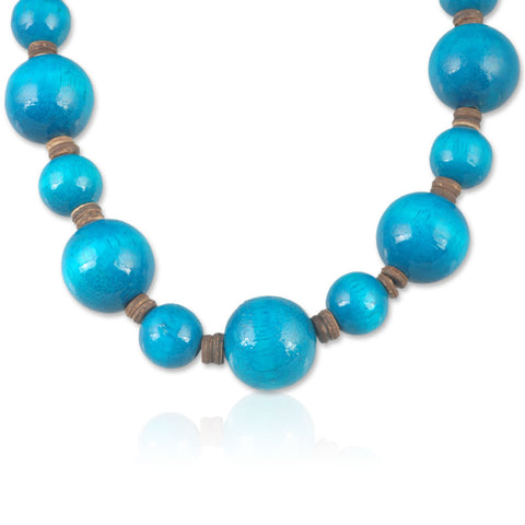 Blue Planets Necklace