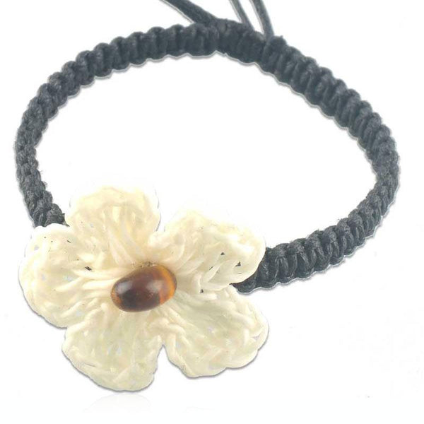 White Fashion Flower Bracelet