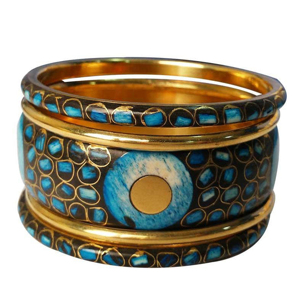 Designer Blue Bangles For Women