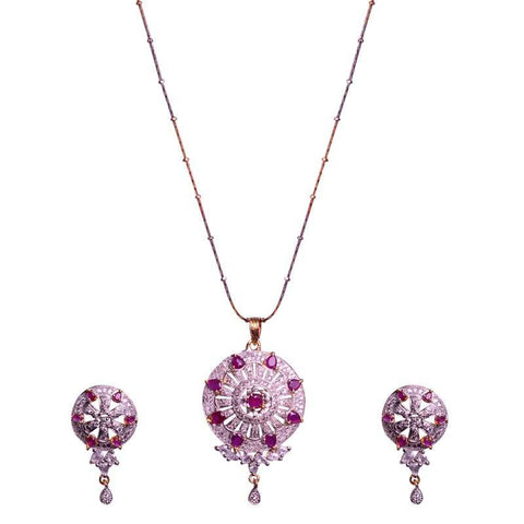 Beautiful Round Shaped Locket Set