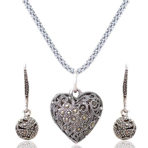 Sterling Silver Love Pendant Set Without Chain