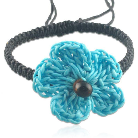 Blue Fashion Flower Bracelet