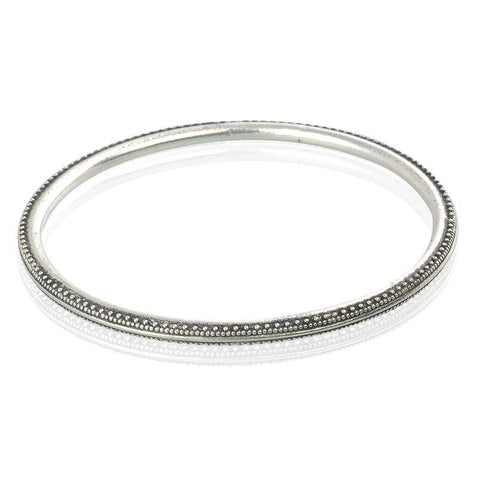 Antiqure Finish Silver Bangle