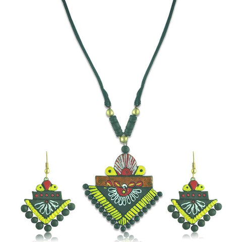 Contemporary Terracotta Necklace Set