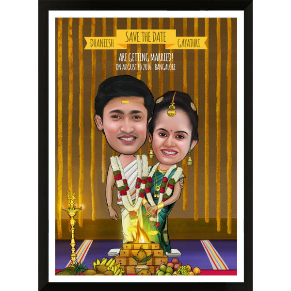 Caricature Wedding Gift for Couple - Giftingnation