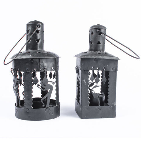 Wrought Iron T-Light Lamp Set - Giftingnation - 1