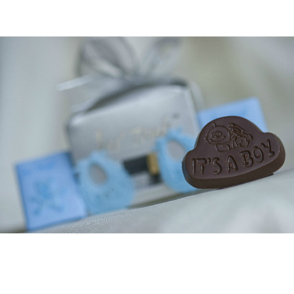 Newborn Baby Boy Announcement Chocolate Gift Box - Giftingnation