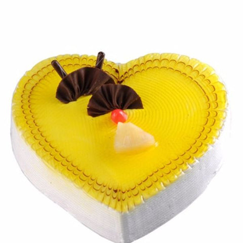 Heart Shape Pineapple Cake 1.5 Kg