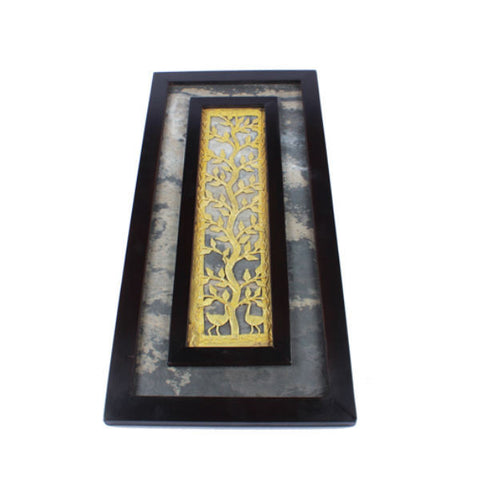 Amalgamated Dhokra And Stone Wall Hanging - Giftingnation - 2