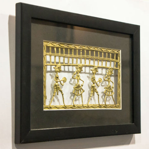 "Gold Color Metal Jaali 8X5 Frame""8X11"" - Giftingnation - 2"