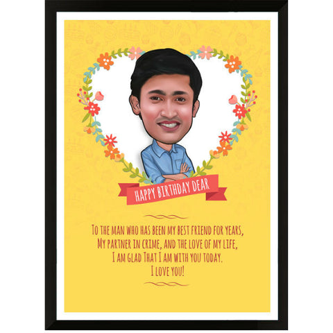 Caricature Birthday Gifts for Him