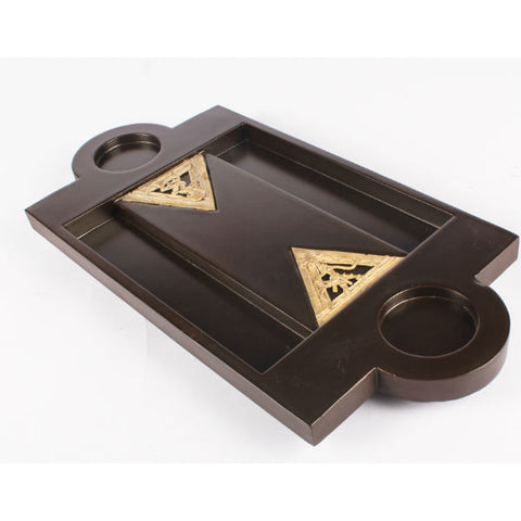 Dhokra Art Shot Tray Triangle Jaali - Giftingnation - 2