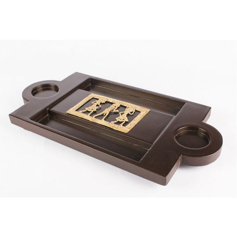 Dhokra art shot tray Rectangular Jaali - Giftingnation - 2