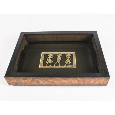 Dhokra Art Serving Tray Small - Giftingnation - 2