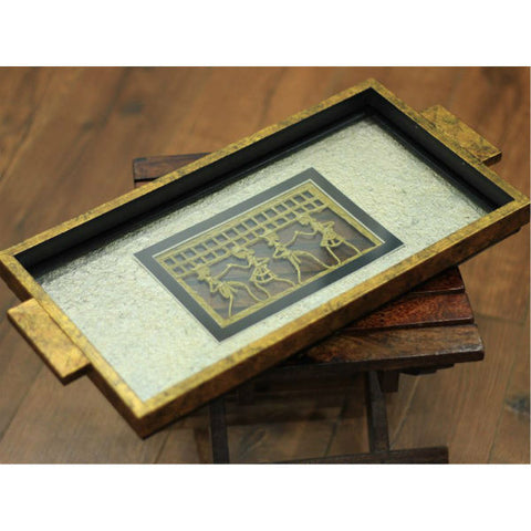 Gold Decorative Serving Tray - Giftingnation - 2