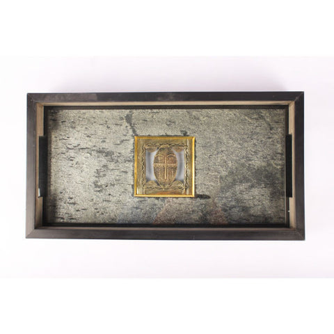 Serving Tray with Stone Veneer - Giftingnation - 2