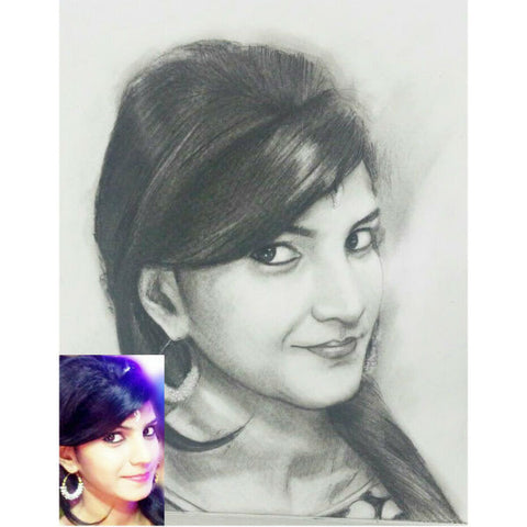 Personalised Charcoal Drawing - Giftingnation