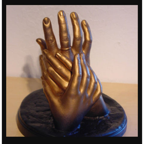3D Casting of Hands for Family of three-Bronze - Giftingnation